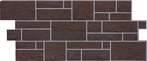 Фасадные панели BURG Дёке Земляной 946x445 мм (0,42 м2)