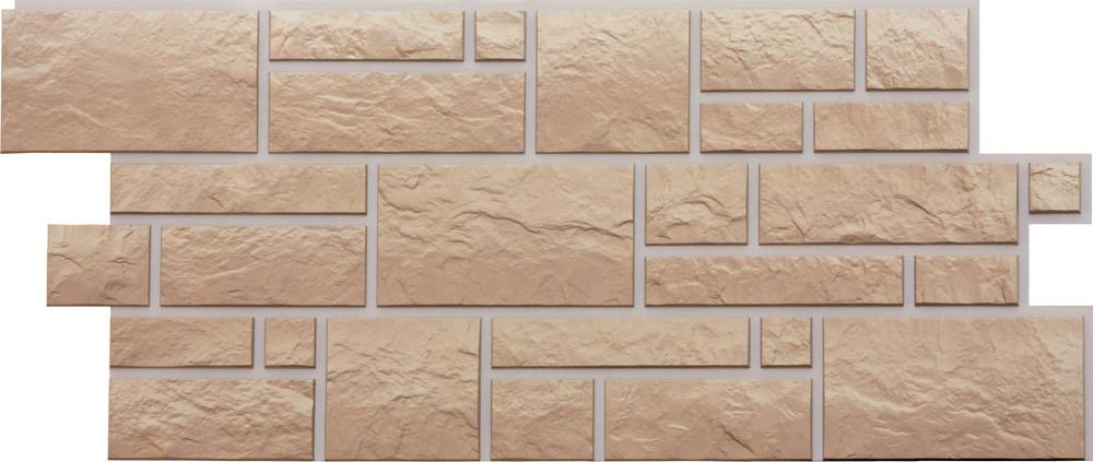 Фасадные панели BURG  Дёке Песчаный  946x445 мм (0,42 м2)