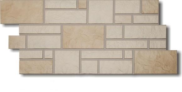 Фасадные панели Дёке Пшеничный  946x445 мм Коллекция BURG