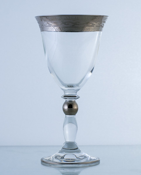 Бокал для вина 6шт. Богемское стекло, Чехия 2886-375398-190. Алматы