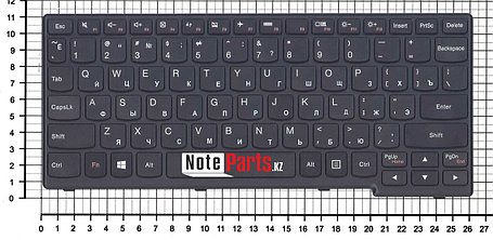 Клавиатура для ноутбука Lenovo Yoga 11, 11-TTH черная с рамкой, фото 2