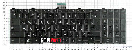 Клавиатура для ноутбука Toshiba Satellite C850, C870, C875, черная, фото 2