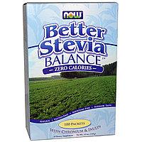 Now Foods, Стевия, 100 пакетиков. Сахарозаменитель натуральный.