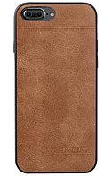 Кожаный чехол Mean Love для iPhone 7 plus (коричневый)