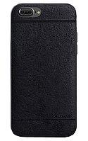 Кожаный чехол Mean Love для iPhone 7 plus (черный)