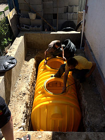 Монтаж системы отопления с установкой емкости , объект - поселок Иссык 2