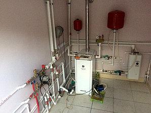 Монтаж системы отопления с установкой емкости , объект - поселок Иссык 3