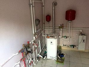 Монтаж системы отопления с установкой емкости , объект - поселок Иссык 4