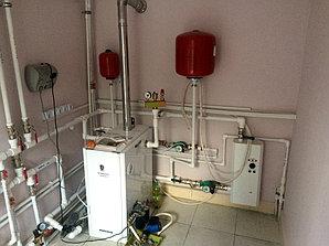 Монтаж системы отопления с установкой емкости , объект - поселок Иссык 7