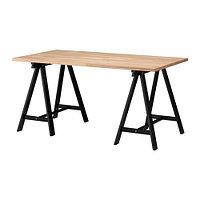 Стол письменный ГЕРТОН/ОДВАЛЬД бук черный 155x75 см ИКЕА, IKEA