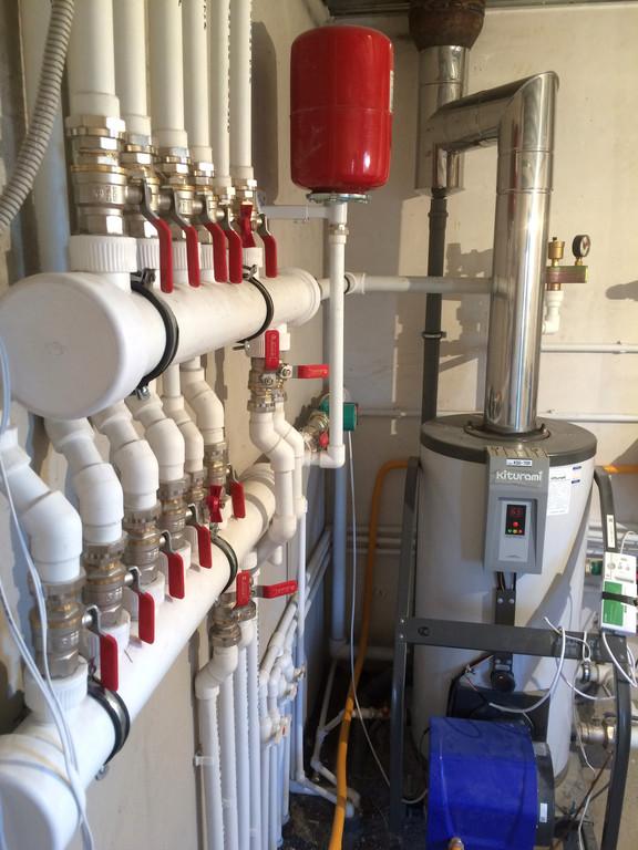 Монтаж системы отопления в котельной, объект - Каменское плато