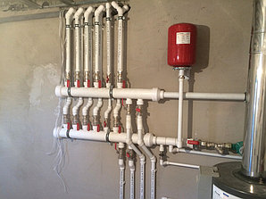 Монтаж системы отопления в котельной, объект - Каменское плато  8