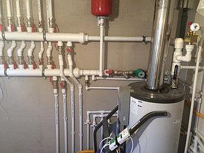Монтаж системы отопления в котельной, объект - Каменское плато  9