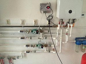 Монтаж системы отопления холодной/горячей воды в административном здании 4
