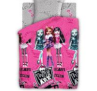 Постельное бельё 1,5 сп Monster High Куклы Монстер Хай