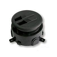 Напольный лючок на 3 или 1.5 модуля, пластик, цвет чёрный, фото 1