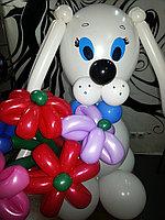 Собачка с букетом, фото 1