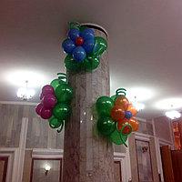 Оформление цветочками из шаров, фото 1