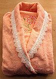 Банный женский набор: халат и два полотенца, фото 2