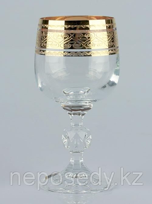 Фужеры Claudia 190мл вино 6шт. богемское стекло, Чехия 40149-432131-190. Алматы