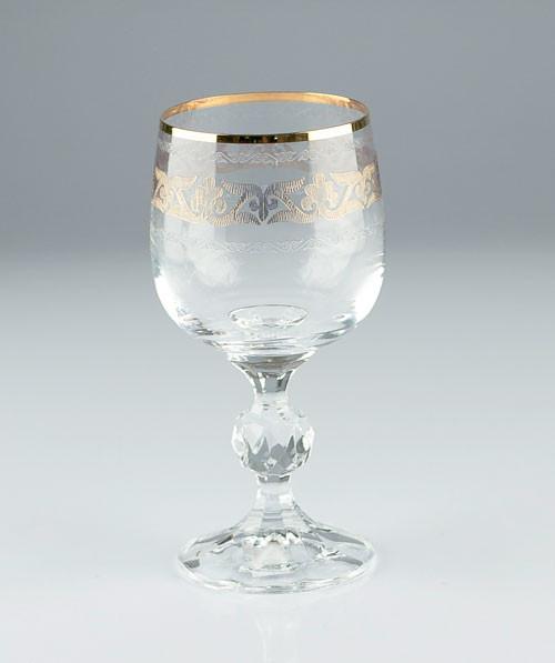 Фужеры Claudia 230мл вино 6шт. богемское стекло, Чехия 40149-432132-230. Алматы