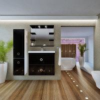 Комплект навесной мебели для ванной комнаты Рубин. Широкая палитра цветов. Любая комплектация