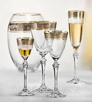 Фужеры Elisabeth вино 250мл. 6шт богемское стекло, Чехия 40760-Q8074-250. Алматы