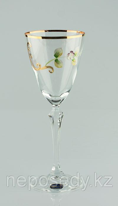 Фужеры Elisabeth вино 250мл. 6шт богемское стекло, Чехия 40760-V0029-250. Алматы