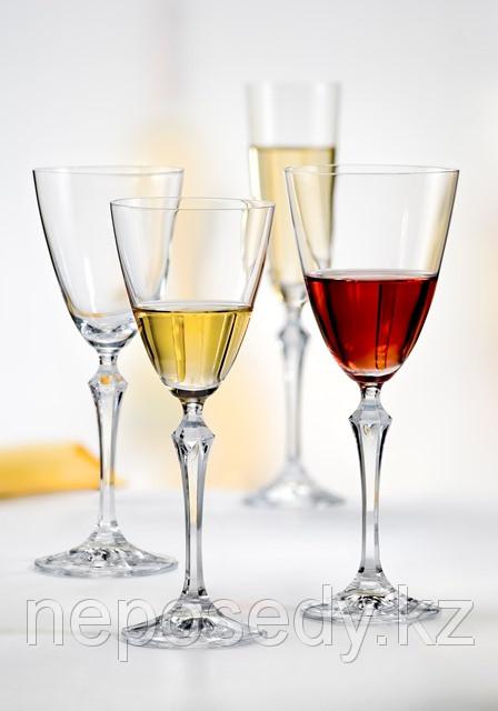 Фужеры Elisabeth вино 350мл. 6шт богемское стекло, Чехия 40760--350. Алматы