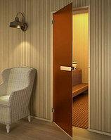 Дверь стеклянная матовая для бани и сауны
