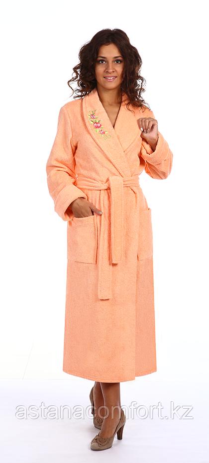 Халат махровый с вышивкой