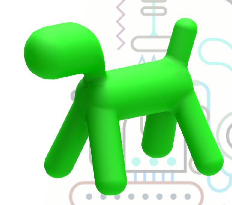 Собачка, арт объект