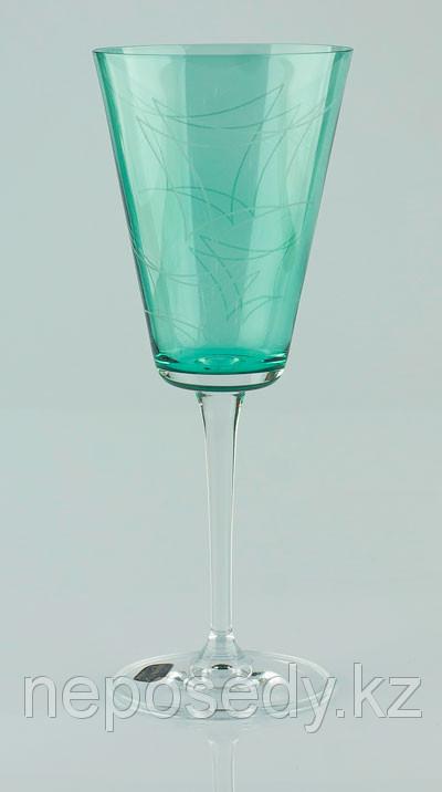 Фужеры Jive вино 240мл. 6шт. Богемское стекло, Чехия 40771-K0264-240. Алматы