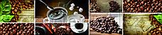 Кухонный фартук УФ  Кофе на темном фоне, фото 3