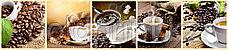 Кухонный фартук УФ  Кофе на темном фоне, фото 2