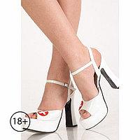 Туфли секси-медсестры, 40 размер, белые