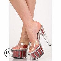 Туфли Pure Love, 39 размер, прозрачные с красным сердечком