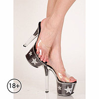 Туфли Stars, 39 размер, чёрно-серебристые
