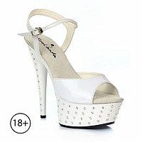 """Туфли со стразами """"Фелисити"""", 39 размер, белые"""