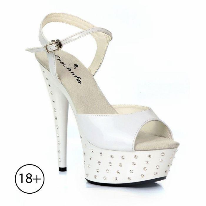 """Туфли со стразами """"Фелисити"""", 40 размер, белые"""