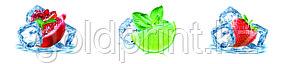 Кухонный фартук УФ  Лед и фрукты, фото 2