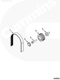 Привод водяного насоса, ремни, ролики, натяжители Cummins ISLe QSL9