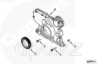 Сальник коленчатого вала передний (70x100x12,5) двигателя Cummins ISBe ISDe ISF3.8L 4890832