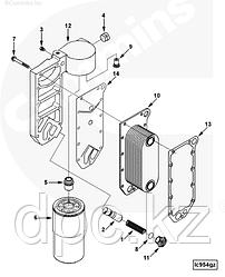 Комплект прокладок масляного теплообменника (2 штуки) Cummins 6CT ISC ISL 3918174 3914307 3908332 3906297