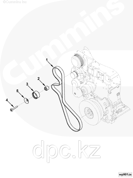Приводной ремень 8PK1226 Cummins ISBe285 ISDe285 4892351 4990977