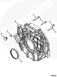 Сальник коленвала задний (130x150x14) Cummins ISB ISD QSB ISF3.8 ISLe 3968563