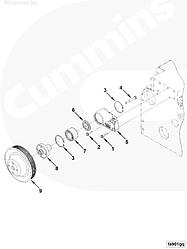 Шкив вентилятора Cummins EQB140-20 ISDe140-30 3914462 3908447