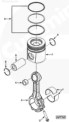 Шатун двигателя Dong Feng Cummins ISLe 8.9L 310-30 345-30 375-30 л. с. 3979744 4944670 3970391