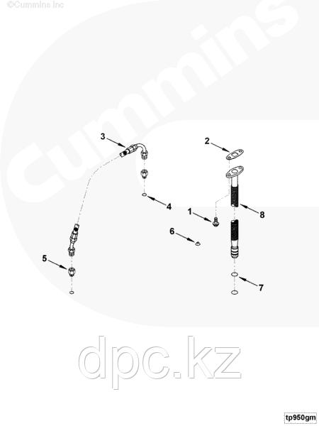Уплотнительная шайба Cummins ISBe 210-285 3928624