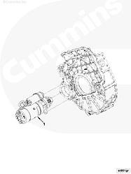 Стартер 24V/5,5kW (10 зубьев/D=39; не редукционный) Cummins ISBe250 ISDe230 4930605